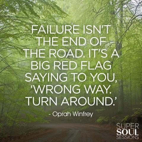 Oprah Winfrey Quote about Failure