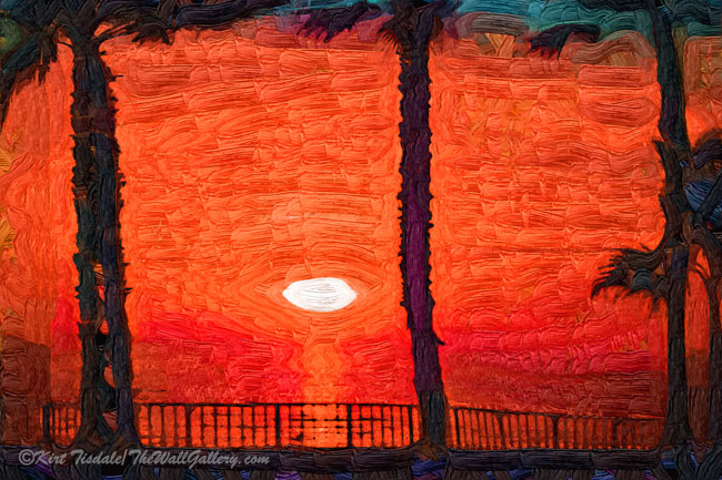 Bright Orange Tropical Sunset